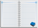 Printable Blue Notebook Stationary