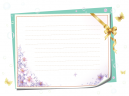 Printable Floral Stationary Papers