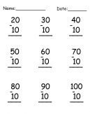 Math Subtraction Worksheet