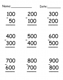 Practice Subtraction Worksheet