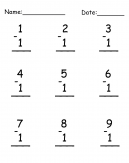 Printable Subtraction Worksheet