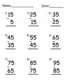 Printable Subtraction Worksheets
