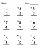 Subtraction Tens 1's Printable Worksheets