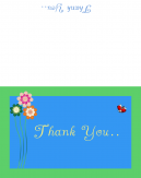 Floral Thank You Printable Cards