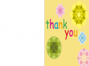 Printable Gold Thank You Cards