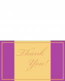 Printable Purple and Gold Thank You Cards