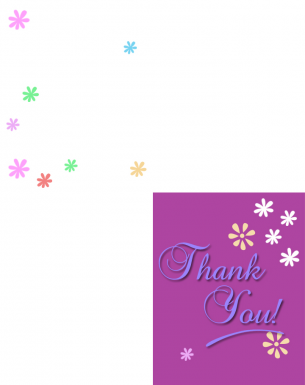 Printable Purple Floral Thank You Cards