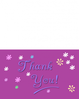 Printable Purple Thank You Cards