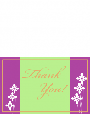 Printable White Flower Thank You Cards