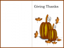 Brown Border Giving Thanks Card