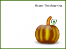 Green Border Pumpkin Thanksgiving Card