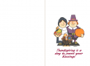 Pilgrim Thanksgiving Card
