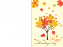 Printable Falling Leaves Happy Thanksgiving Card