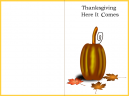 Yellow Border Pumpkin Thanksgiving Card
