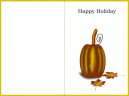 Yellow Skinny Pumpkin Thanksgiving Card