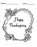 Happy Thanksgiving Day Printable Coloring Page