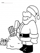 Santa with Gifts Printable Coloring Sheets