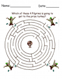 Free Pilgrims Maze Thanksgiving Crafts Printable