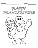 Happy Turkey Printable Thanksgiving Craft