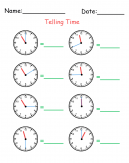 How to Tell Time Printable Worksheets