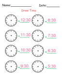 Printable Identify The Time Worksheets