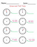 Printable Tell Time Worksheets