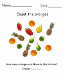 Count the Oranges Printable