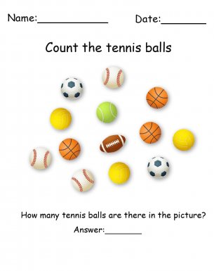 photograph about Printable Visual Scanning Worksheets for Adults called Tennis Ball Printable Visible Scanning Worksheets