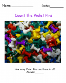 Violet Pins Printable Visual Scanning Sheets