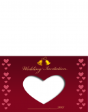 Heart And Bells Wedding Printable Cards