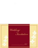 Red And Gold Wedding Printable Cards