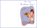 It's My Wedding Day Purple Border Printable Wedding Invitation