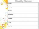 Printable Colorful Bubble Weekly Calendar