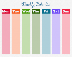 Printable Weekly Calendars for Moms | Blog