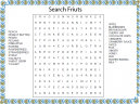 Fruit Foods Word Search Puzzles