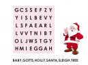 Printable Christmas Search Word Puzzles
