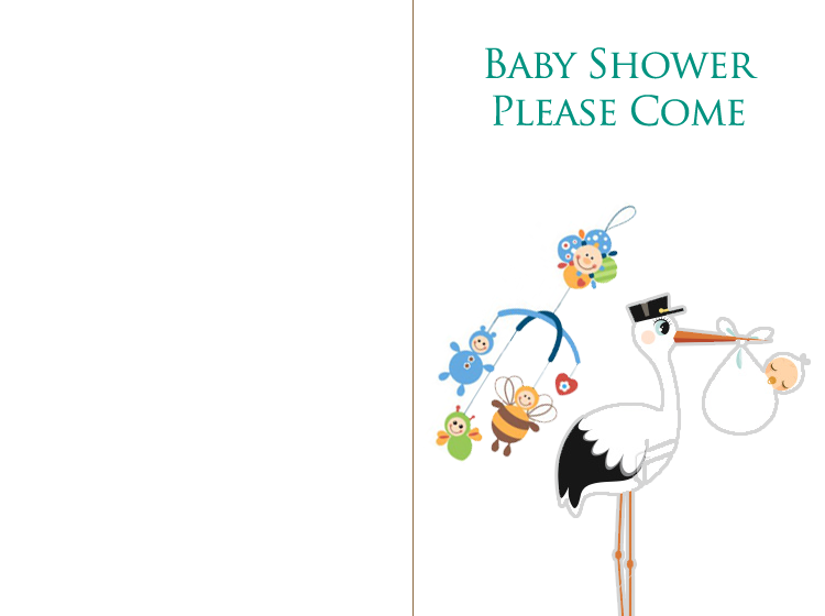 Printable Stork Baby Shower Invitation