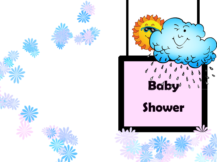 Rainy Baby Shower Printable Invitations