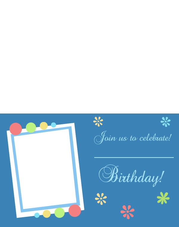 Printable Picture Frame Birthday Invitations