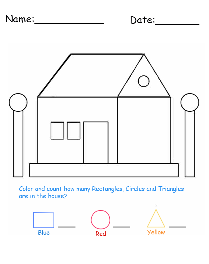 House Shapes Printable Lessons