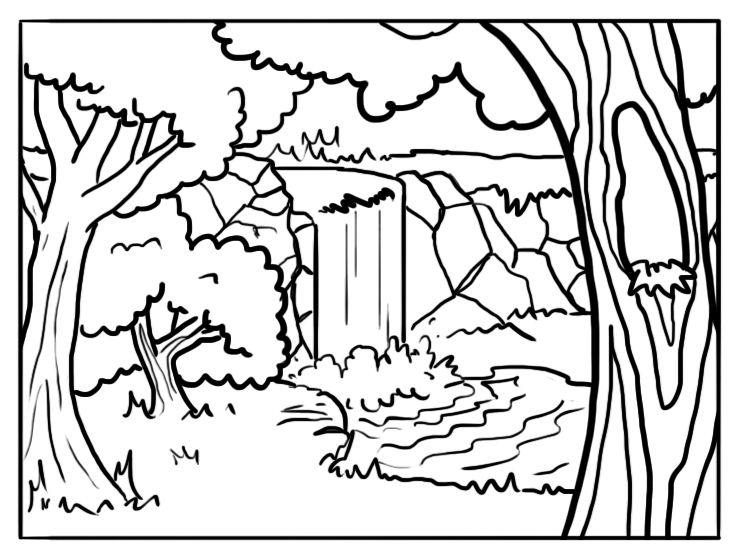 Printable Forest Coloring Sheets