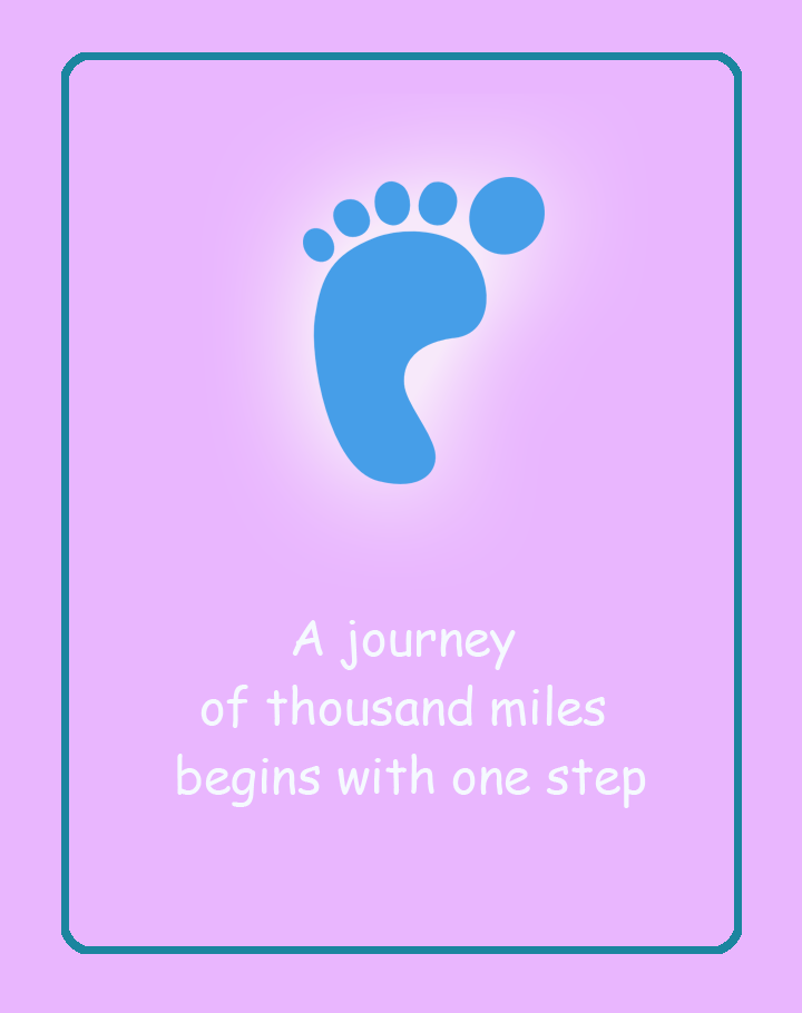 Journey of Miles Printable Quote