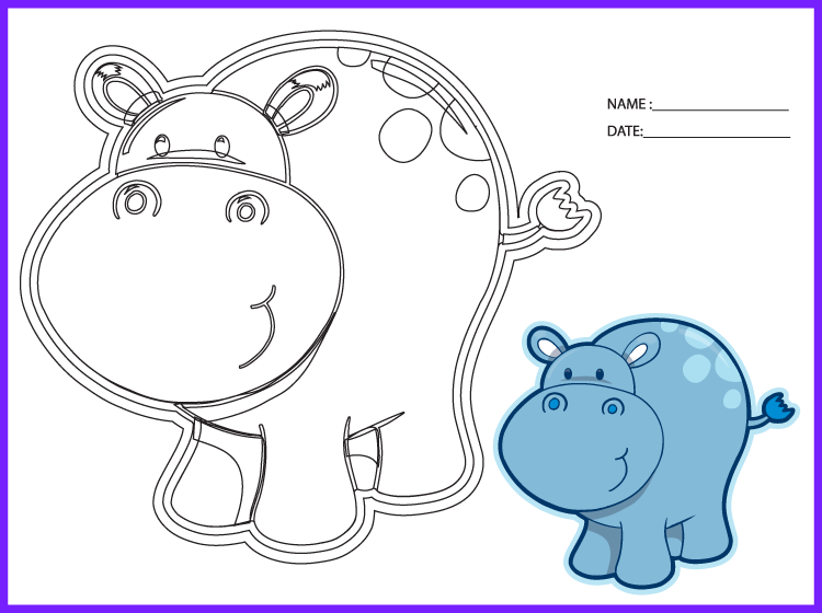Printable Hippo Worksheets