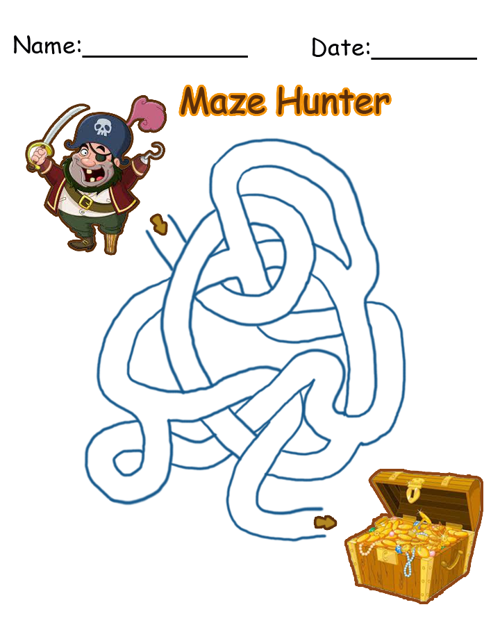 Pirate Maze Printable Games
