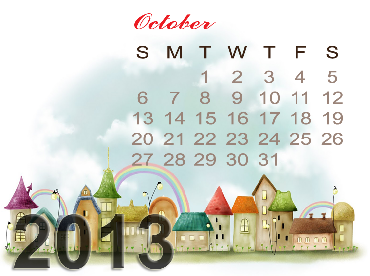 Printable October Monthly Calendar
