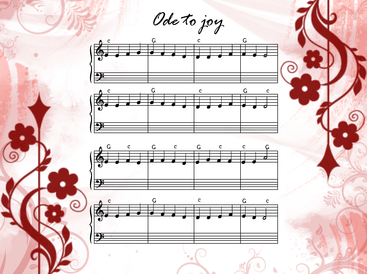 Printable Ode To Joy Sheet Music