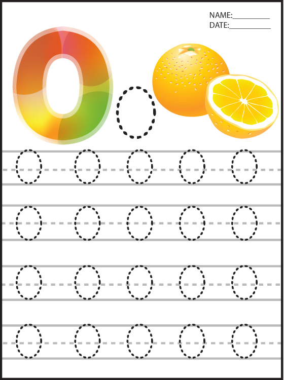 Letter O Printable Worksheets
