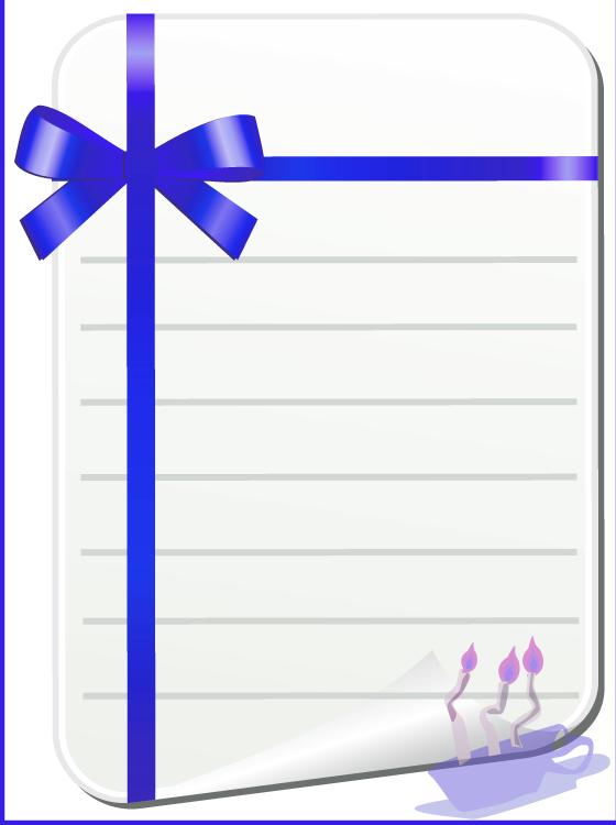 Printable Blue Stationaries