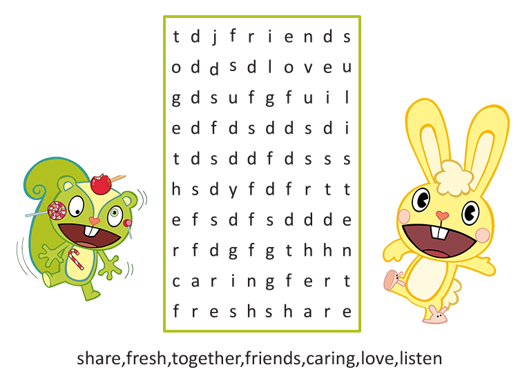 Printable Friendship Word Search Puzzles
